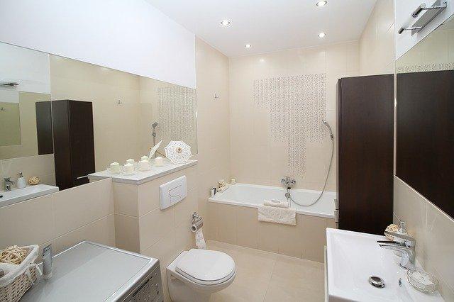 salle de bain faux plafond